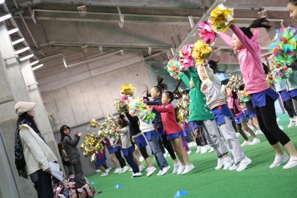 チアらんど-FC東京ーホームゲームーチアスクール出演ー味の素スタジアム20131123_10