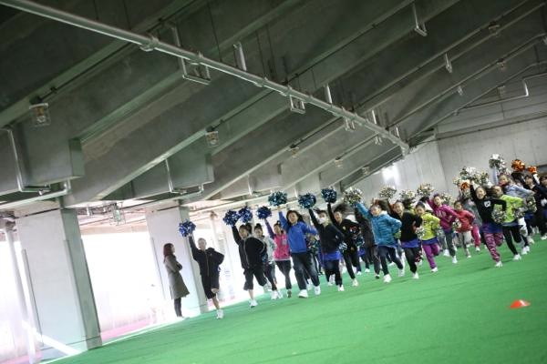 チアらんど-FC東京ーホームゲームーチアスクール出演ー味の素スタジアム20131123_9