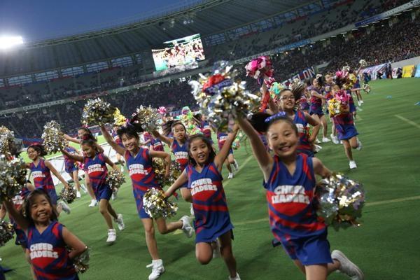 チアらんど-FC東京ーホームゲームーチアスクール出演ー味の素スタジアム20131123_37