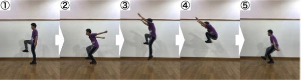 チア_ダンス_アクロバット_トレーニング_ジャンプ力_跳躍力_シングルレッグタックジャンプ_1
